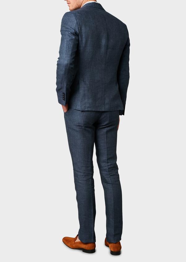 Veste coordonnable Slim en lin bleu marine - Father and Sons 7191