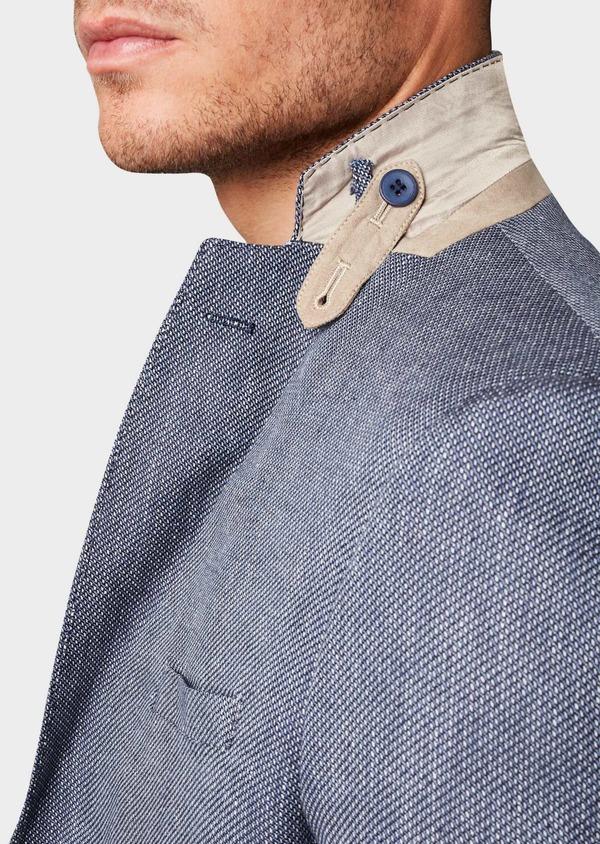 Veste casual Regular en coton façonné bleu gris - Father and Sons 7222