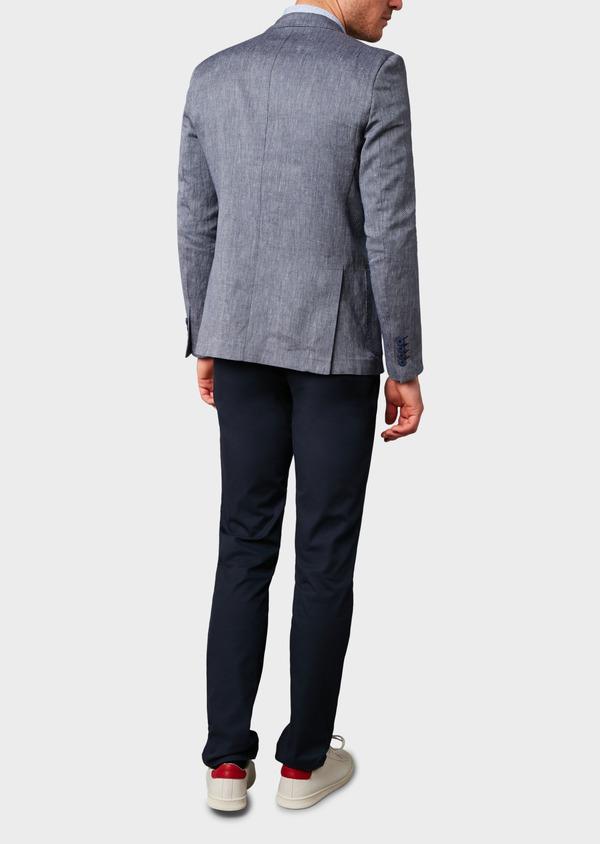 Veste casual Regular en coton façonné bleu gris - Father and Sons 7221