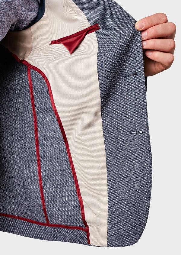 Veste casual Regular en coton façonné bleu gris - Father and Sons 7224