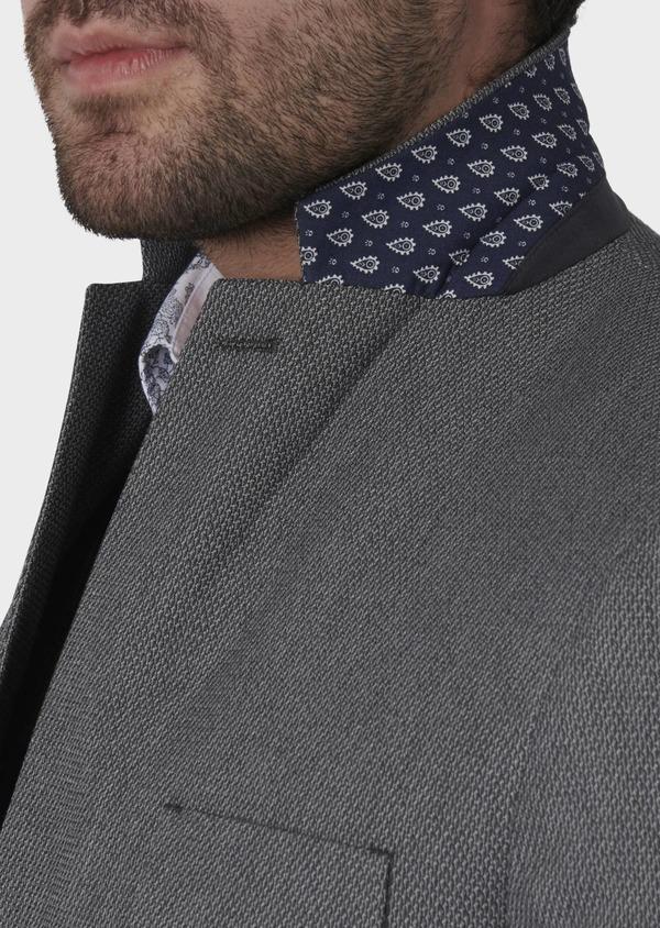 Veste casual Regular en coton façonné gris foncé - Father and Sons 7232
