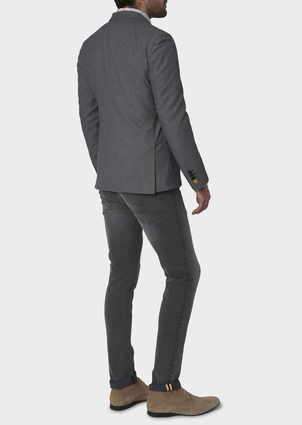 Veste casual Regular en coton façonné gris foncé - Father and Sons 7231