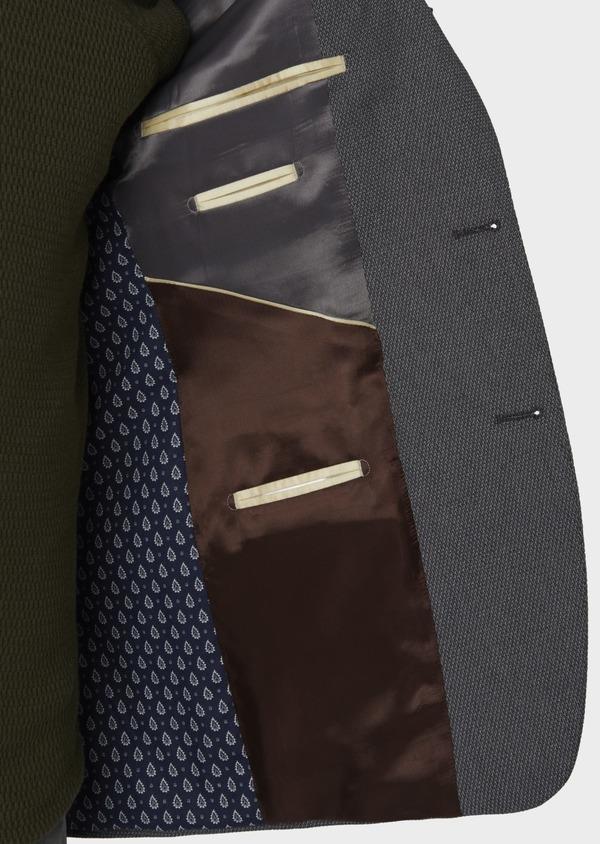 Veste casual Regular en coton façonné gris foncé - Father and Sons 7234