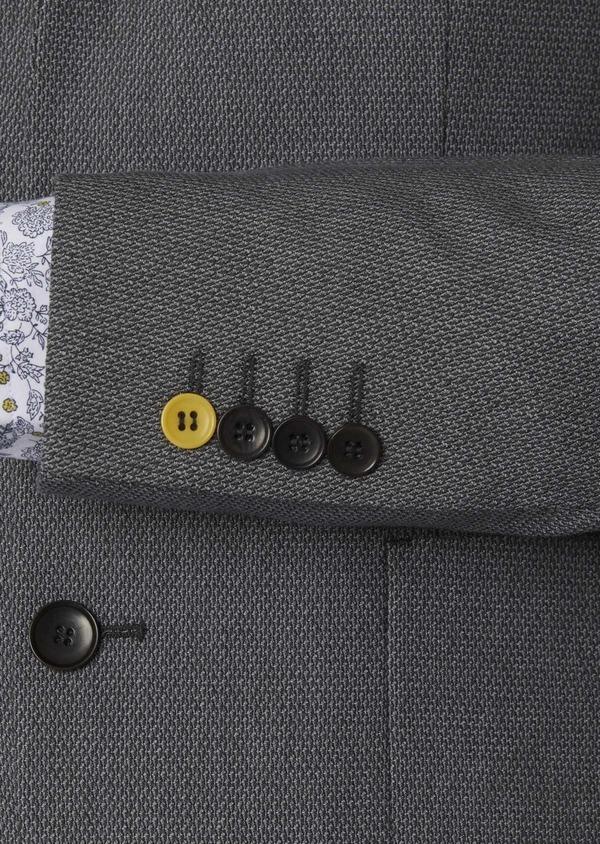 Veste casual Regular en coton façonné gris foncé - Father and Sons 7233