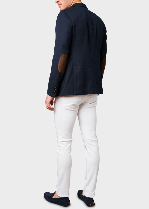 Veste casual Regular en coton façonné bleu marine - Father and Sons 7241
