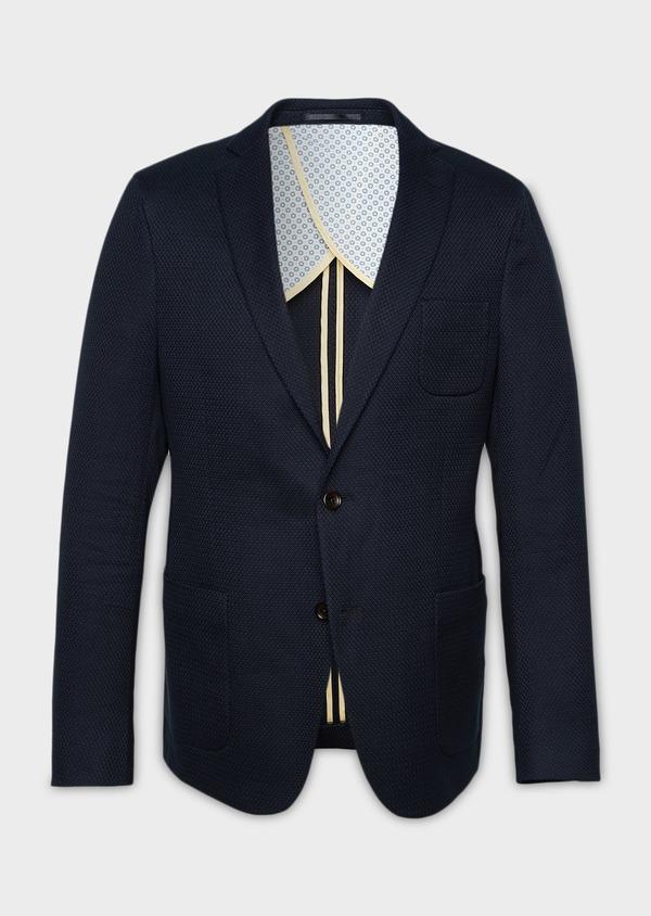Veste casual Regular en coton façonné bleu marine - Father and Sons 7238