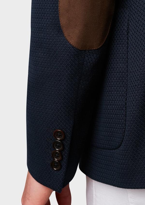 Veste casual Regular en coton façonné bleu marine - Father and Sons 7243