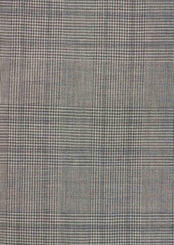 Veste coordonnable Slim en coton façonné bleu Prince de Galles - Father and Sons 8250