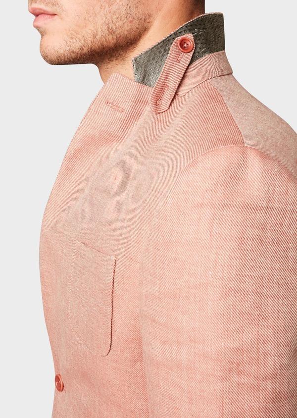 Veste casual Slim en coton façonné orange - Father and Sons 7262
