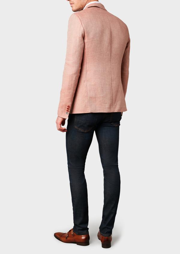 Veste casual Slim en coton façonné orange - Father and Sons 7261