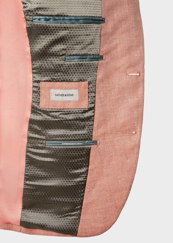 Veste casual Slim en coton façonné orange - Father and Sons 7264