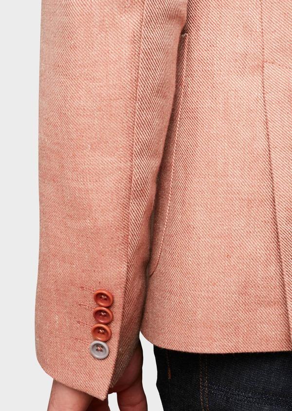 Veste casual Slim en coton façonné orange - Father and Sons 7263