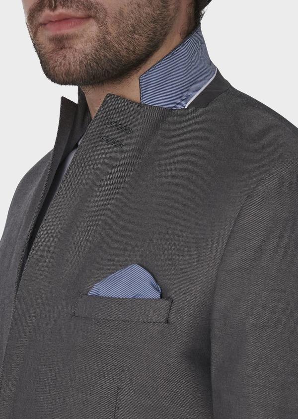 Veste coordonnable Slim en coton gris - Father and Sons 8260