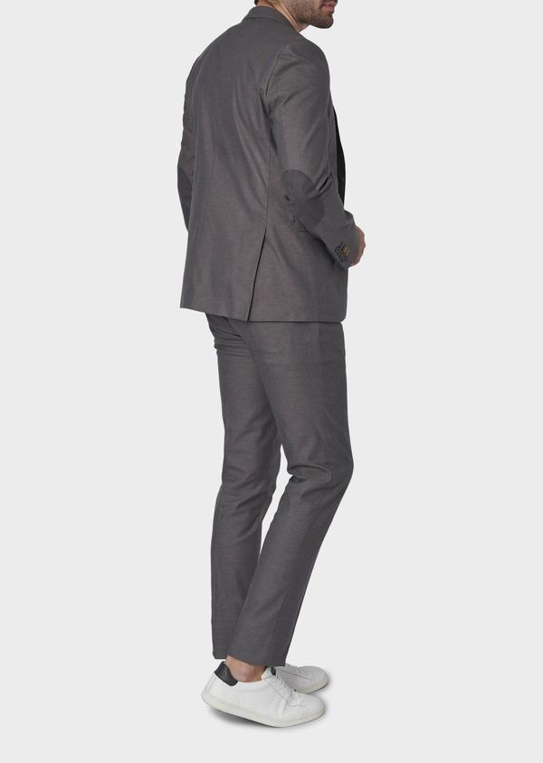 Veste coordonnable Slim en coton gris - Father and Sons 8259