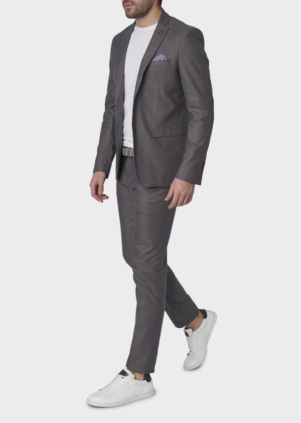 Veste coordonnable Slim en coton gris - Father and Sons 8258