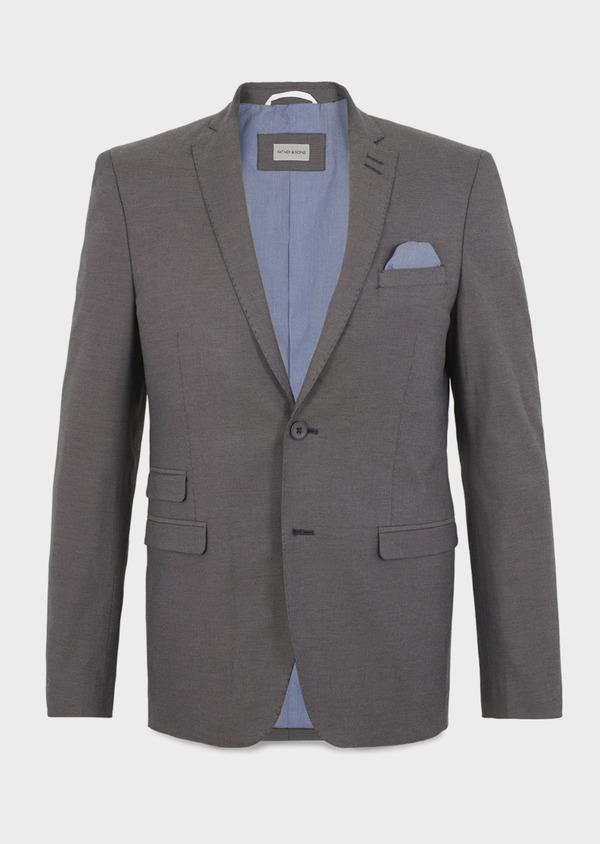 Veste coordonnable Slim en coton gris - Father and Sons 8256