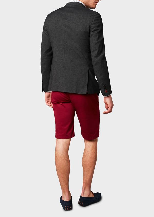 Veste casual Slim en coton façonné noir - Father and Sons 8242