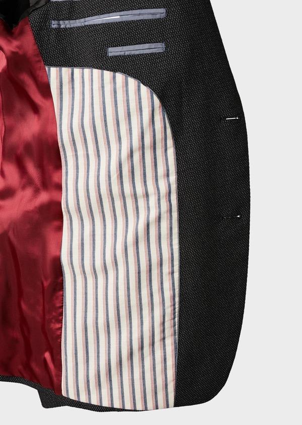 Veste casual Slim en coton façonné noir - Father and Sons 8245