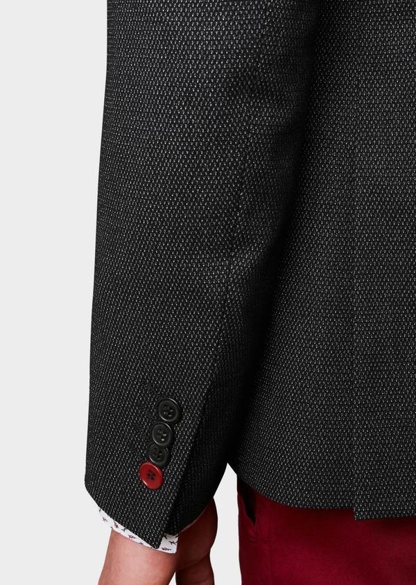 Veste casual Slim en coton façonné noir - Father and Sons 8244