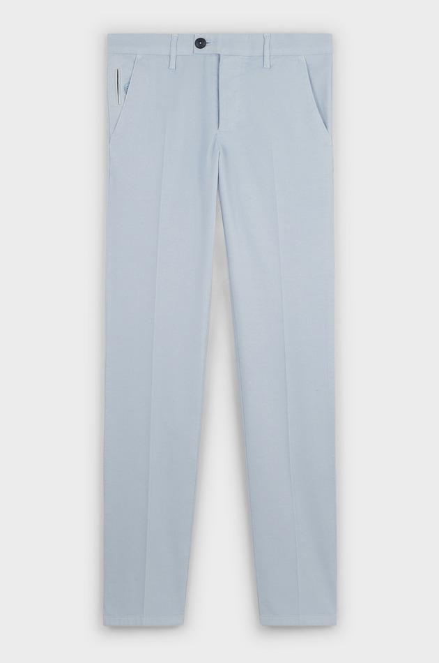 8a6a5a5b6a8d2 Chino slack skinny en coton stretch texturé bleu ciel - Father and Sons  Focus