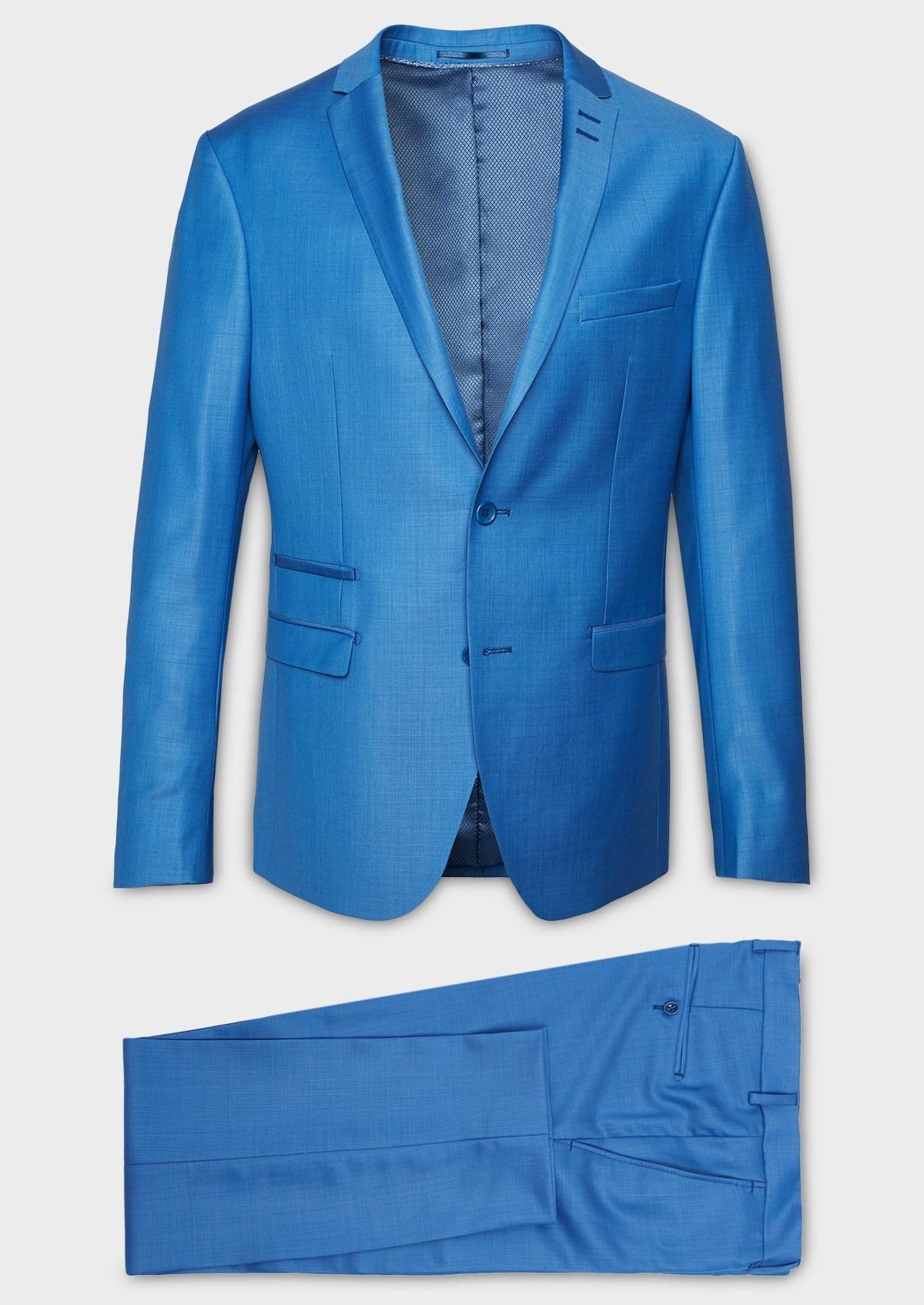 Laine Costume En Pièces Bleu Azur 2 Slim Unie eWrQdxBoC