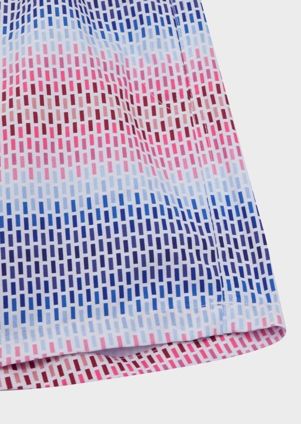 Maillot de bain bleu roi à motifs géométriques - Father and Sons 34321
