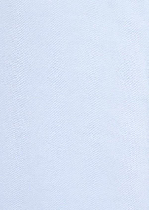 Chino slack skinny en coton stretch uni bleu ciel - Father and Sons 37333