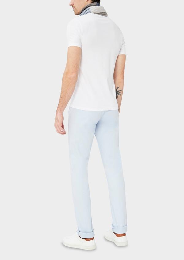 Chino slack skinny en coton stretch uni bleu ciel - Father and Sons 37332