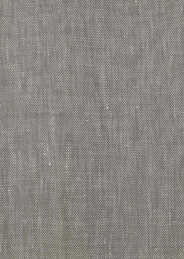 Pantalon coordonnable slim en lin mélangé uni vert kaki - Father and Sons 34192