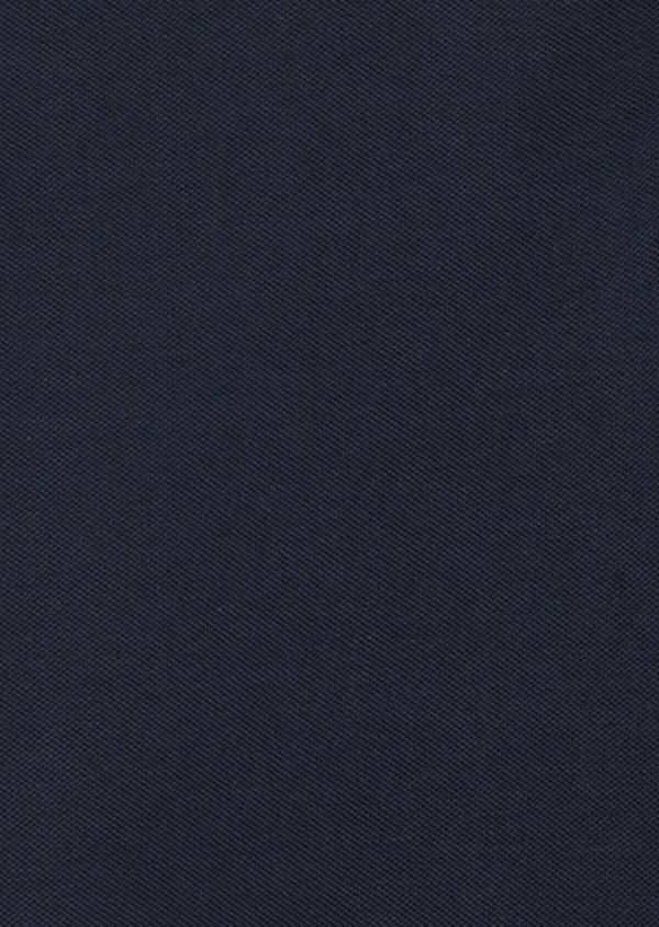 Polo manches longues Slim en coton uni bleu nuit à col Mao - Father and Sons 37329