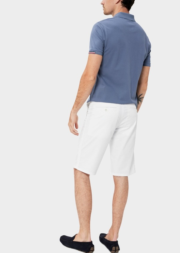 Bermuda en coton stretch uni blanc - Father and Sons 40561