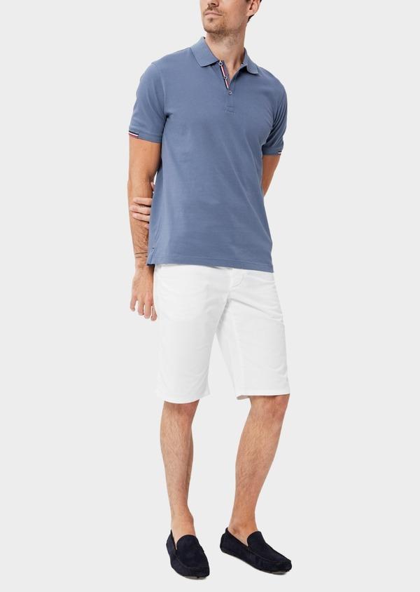 Bermuda en coton stretch uni blanc - Father and Sons 40560