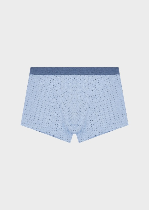 Boxer en coton stretch bleu clair à motif fleuri - Father and Sons 40563