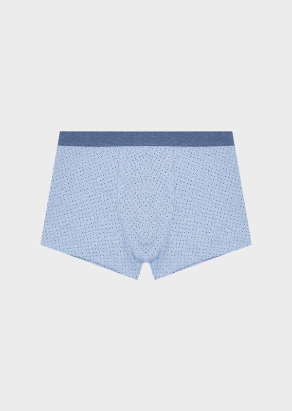 Boxer en coton stretch bleu clair à motif fleuri - Father and Sons 40564