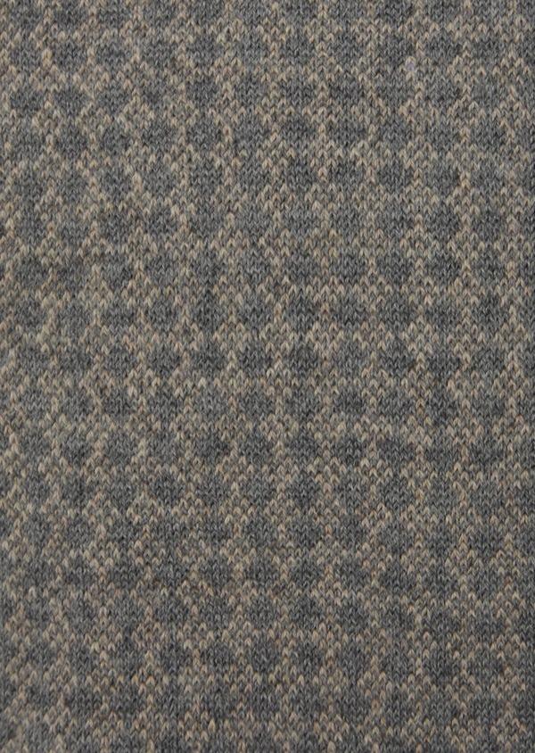 Chaussettes en coton mélangé gris à motif fantaisie beige - Father and Sons 42533