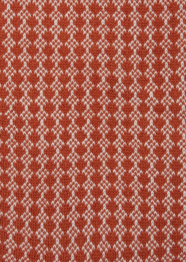 Chaussettes en coton mélangé marron à motifs géométriques gris - Father and Sons 42541