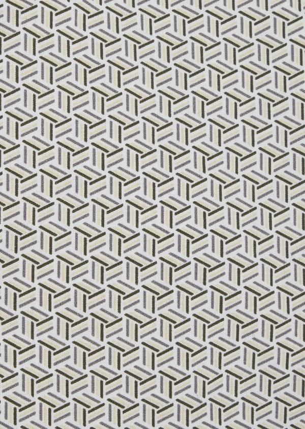 Chemise sport Slim en popeline de coton blanc à motif fantaisie - Father and Sons 41953