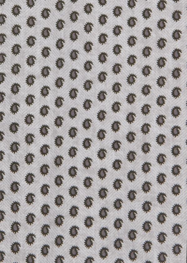 Chemise sport Slim en coton chevron gris à motif fantaisie - Father and Sons 42352