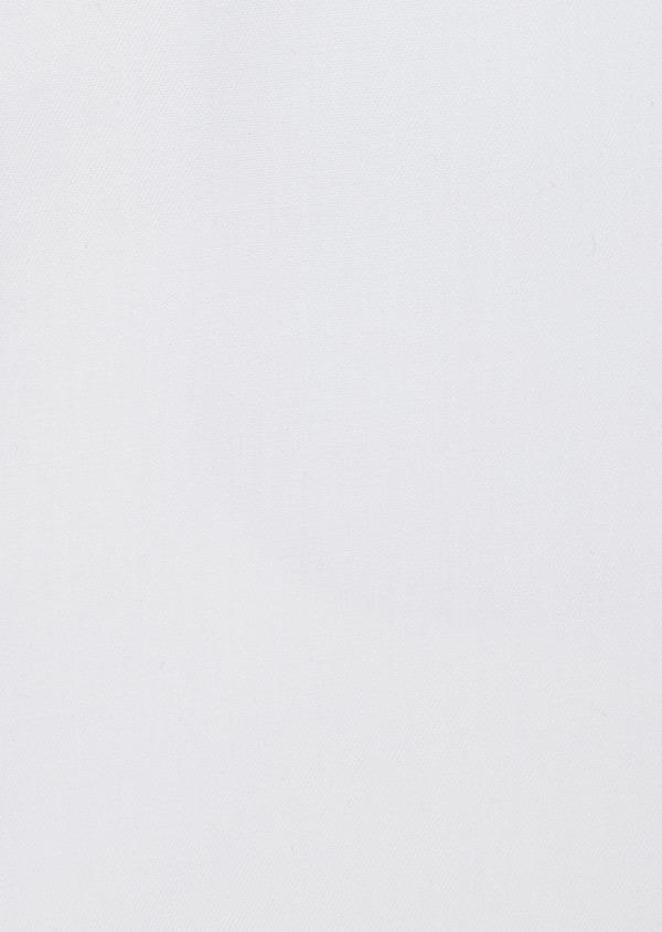 Chemise habillée non-iron Slim en popeline de coton uni blanc - Father and Sons 42389
