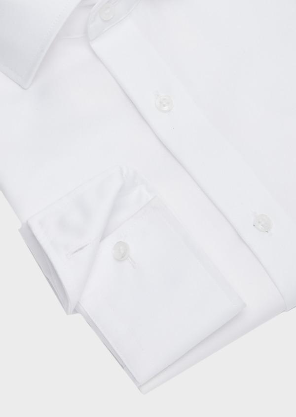 Chemise habillée non-iron Slim en popeline de coton uni blanc - Father and Sons 42391