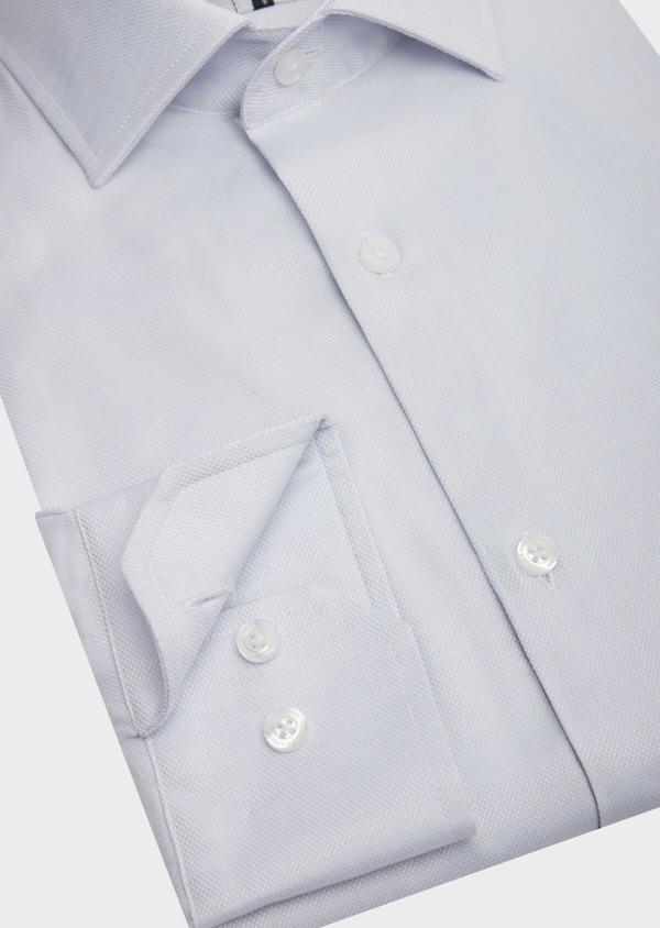 Chemise habillée Slim en coton Jacquard uni bleu pâle - Father and Sons 42596