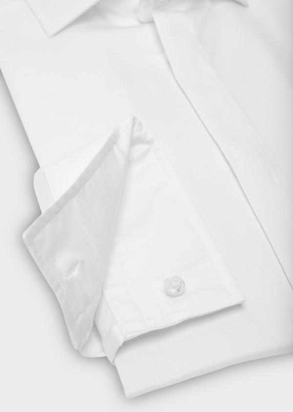 Chemise habillée Slim en coton sergé uni blanc - Father and Sons 40631