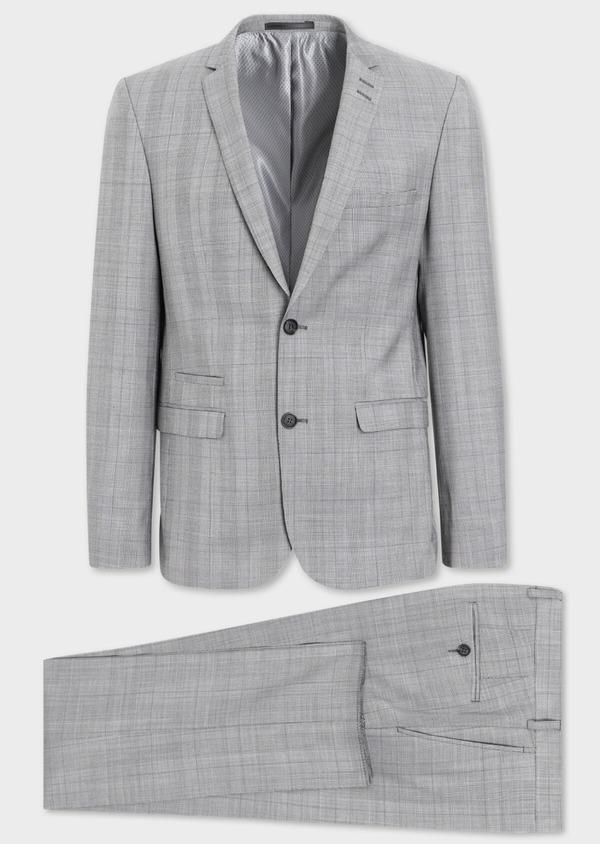 Costume 2 pièces Slim en laine grise Prince de Galles - Father and Sons 38125