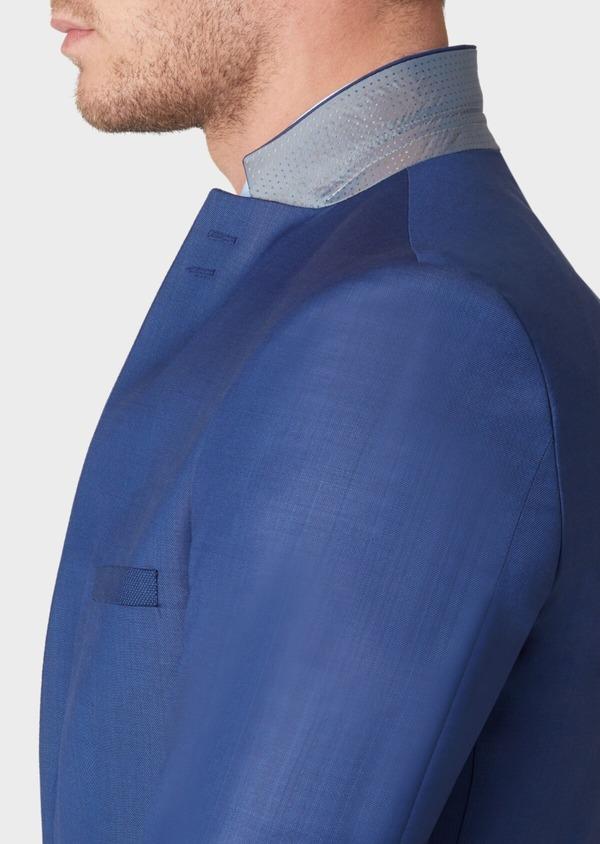 Costume 2 pièces Slim en laine unie bleu indigo - Father and Sons 37140