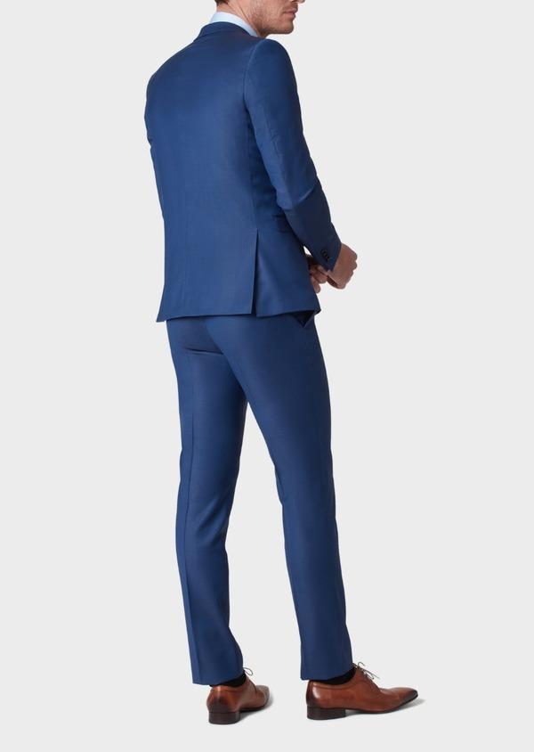 Costume 2 pièces Slim en laine unie bleu indigo - Father and Sons 37139
