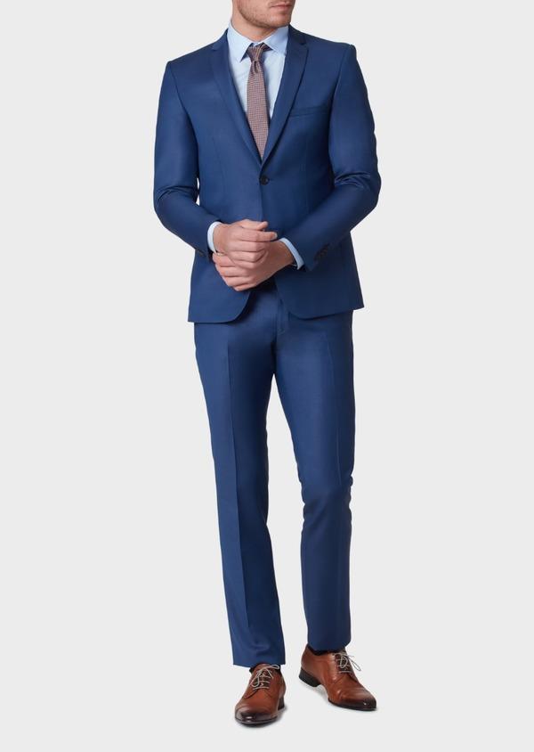 Costume 2 pièces Slim en laine unie bleu indigo - Father and Sons 37138