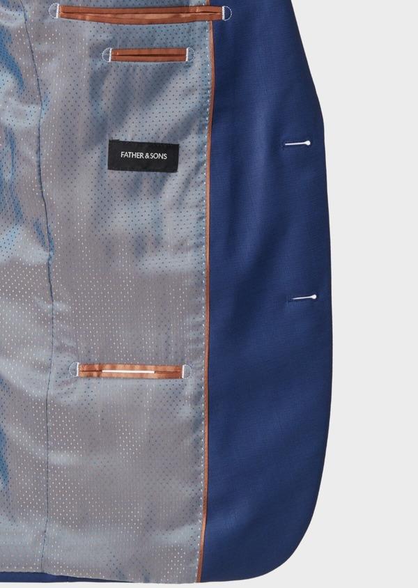 Costume 2 pièces Slim en laine unie bleu indigo - Father and Sons 37142