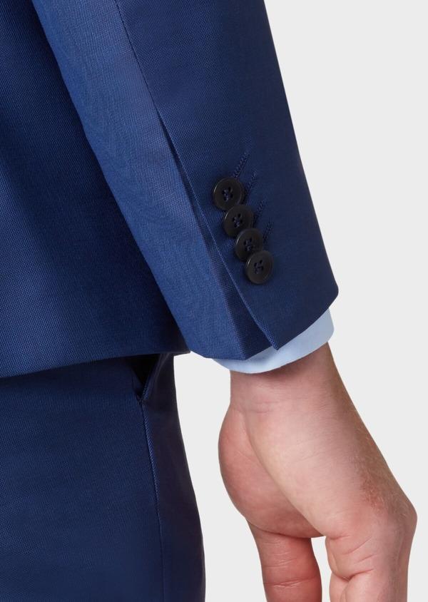 Costume 2 pièces Slim en laine unie bleu indigo - Father and Sons 37141