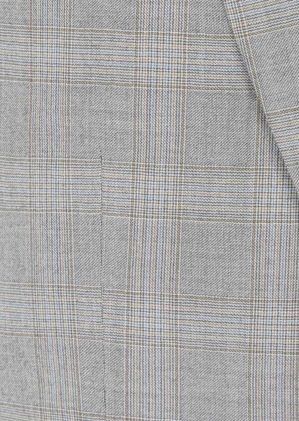 Costume 2 pièces Slim en laine beige Prince de Galles - Father and Sons 42477