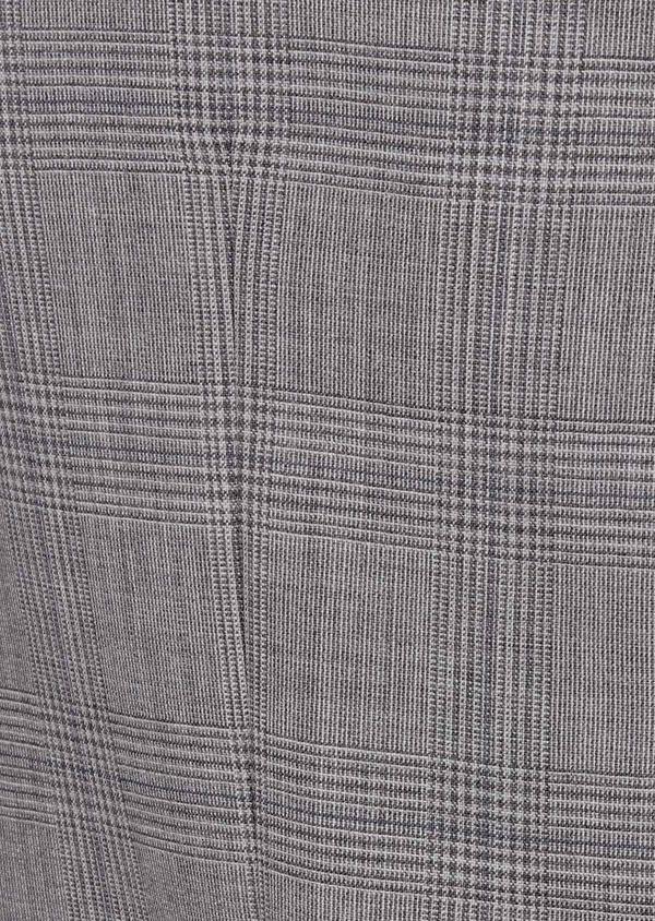Costume 2 pièces Slim en laine gris clair Prince de Galles - Father and Sons 41976